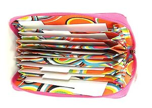 Buxton Grocery Coupon Travel Receipt Organizer Wallet Case Holder Pink New