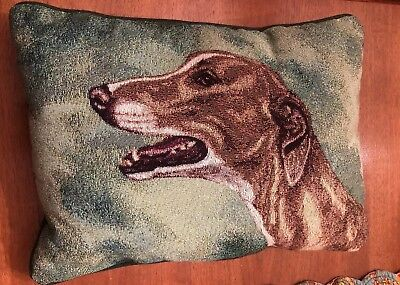 - Greyhound Non Racing Dog PICKEN Tapestry Pillow USA AWESOME