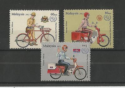 MALAYSIA 2012 WORLD POST DAY SG,1909-1911 U/M N/H LOT 2008A