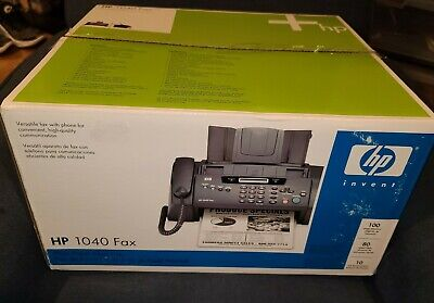 New Open Hp 1040 Inkjet Fax Machine With Built-in Telephonescan Print