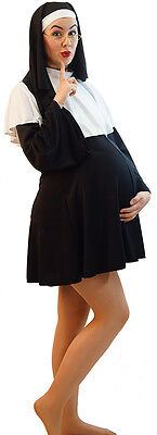 STAG/DRAG-FUNNY PREGNANT NUN FANCY DRESS COSTUME LADIES PLUS SIZES  - Pregnant Plus Size Halloween Costumes