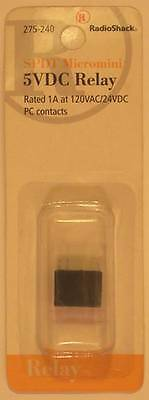Radioshack 275-240 Spdt Micromini Relay Coil 5vdc Contacts 1a At 125vac