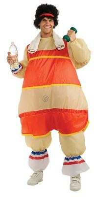 Men's 80's Workout Guy Inflatable Fat Suit Adult Costume - Fat Guy Costumes