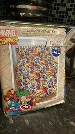 marvels comics double duvet cover with pillow cases