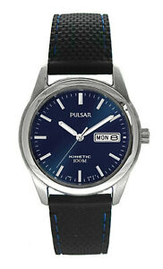 HD OS PD2025X1 Pulsar Gents Day & Date Kinetic Rubber Strap Sport Watch