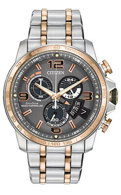 Citizen Eco-Drive Men's Atomic World Timer Chronograph 44mm Watch BY0106-55H