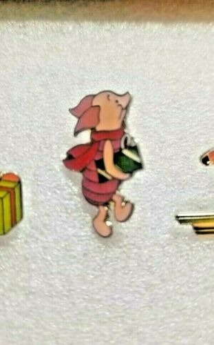 Disney Piglet with Gift Enamel Pin Christmas Series VNTG