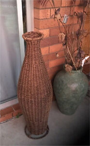 Floor Vase - Wicker Design Dicky Beach Caloundra Area Preview