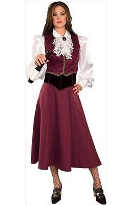 Deluxe Pirate Wench Kostüme (Deluxe Pirate Girl Costume Wench Adult Medium Rubies 90882)