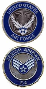 U.S. Air Force / E-4 Senior Airman - USAF Challenge Coin