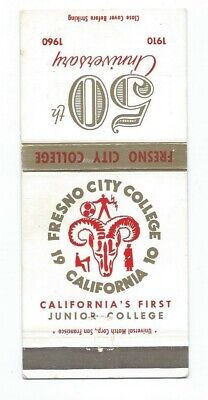 FRESNO CITY COLLEGE vintage matchcover matchbook - RAMS