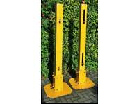 Pair of heavy duty gate posts