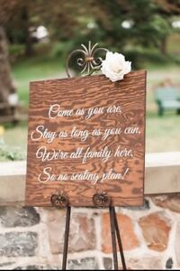 Beautiful wooden wedding signs