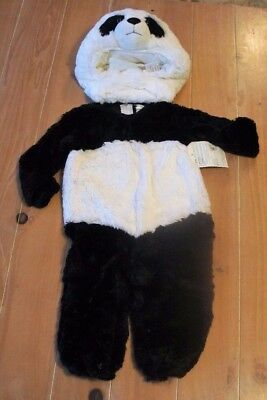 Kid Panda Costume (NWT Pottery Barn Kids Endangered BABY PANDA Costume Toddler 12-24)