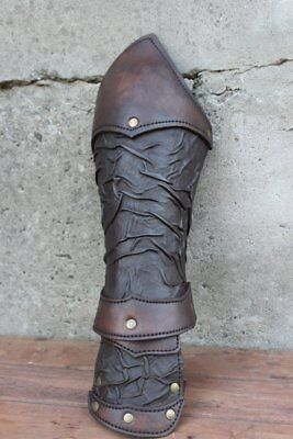 Medieval Single - Medieval Single leather bracer, larp gladiator armor for Spartacus cosplay