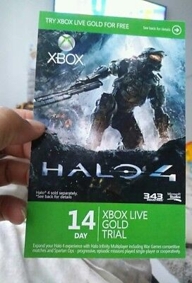 XBOX LIVE 14 day GOLD  TRIAL Membership CODE INSTANT DISPATCH for sale  USA