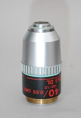 Nikon Phase Contrast 40x Ph3 Dl Lwd Microscope Objective Nice