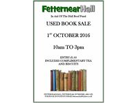 WANTED: Donations of Used Books for a Fundraising Booksale at Fetternear Hall