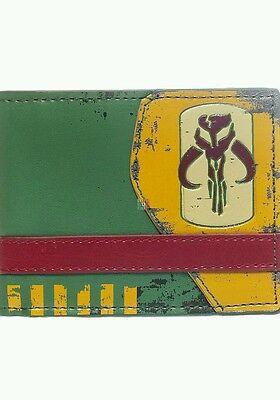 New Stylish Distressed Star Wars Mandalorian Print BI-Fold Wallet  -  UK Sale