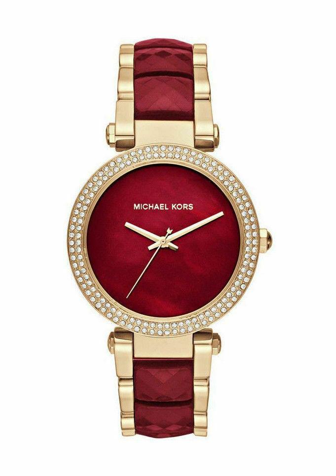 58e270534b511 Michael Kors MK6427 Womens Watch - Gold/Red for sale online   eBay