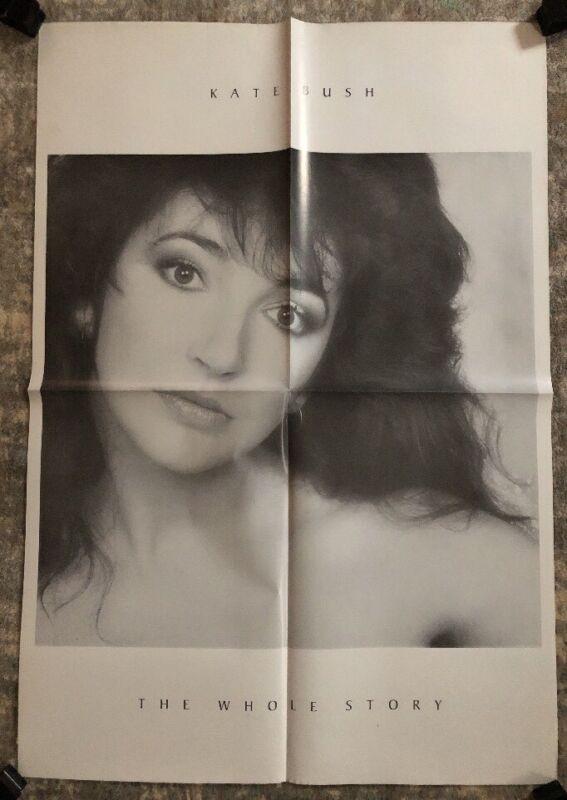 Kate Bush The Whole Story Original Vintage Poster Music Memorabilia Pin-up 1986