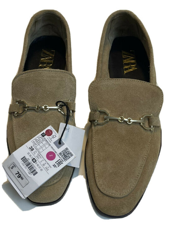 zara womens's round toe laofer shoes