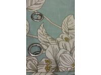 Rowena fully Lined eyelet curtains pair Duck egg blue 167cm×183cm(64×72inches)