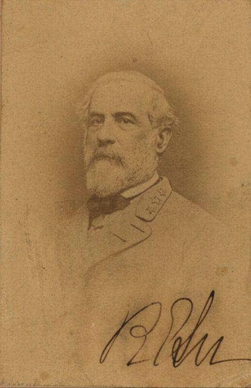 Robert e.lee Reproduction Signed Photo