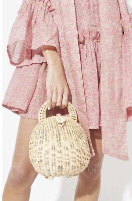 NWOT Cult Gaia Millie Natural Rattan Handle Bag