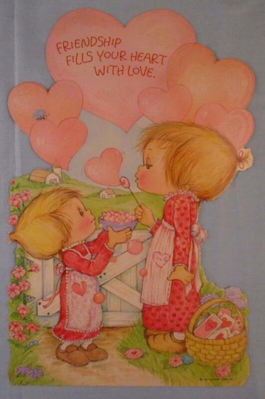 Vtg Hallmark Large Diecut Betsey Clark Valentine