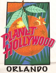 Planet hollywood orlando white tee t shirt orange globe ph for Planet hollywood t shirt