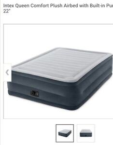 Almost New Air Bed with Builtin pump