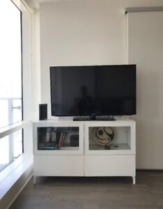 MOVING SALE! White media tv stand cabinet