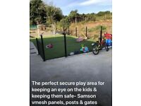Fencing for kids play area.. keeps them safe