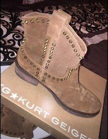 Suede Kurt Geiger Boots (Size 7)