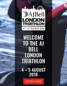 CHEAP AJ Bell London Triathlon Ticket. Olympic distance. 5th August.