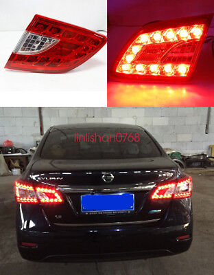2x Rear Bumper Reflector Surface emission Light For Nissan Sylphy sentra 2012 14