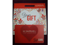 H SAMUEL GIFT CARD £650.00 WORTH