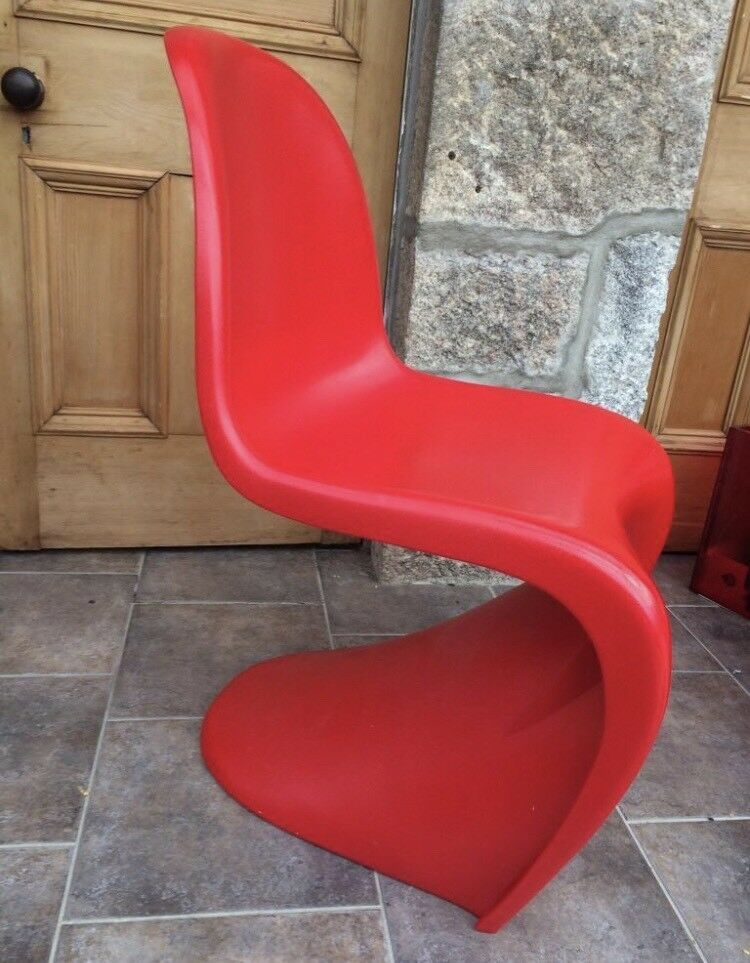 4 Verner Panton Style Chairs