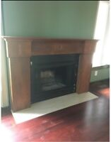 Mantel refinished (painted)