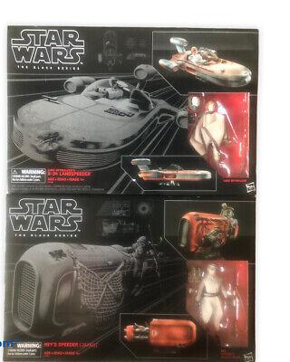 """✅Star Wars Black Series 6"""" #02 Luke Skywalker & #03 Rey's Landspeeder X-34"""