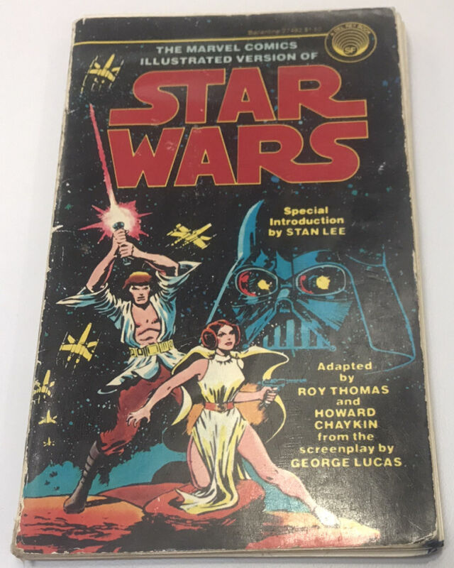 1977 STAR WARS MARVEL COMIC ILLUSTRATED 1ST EDITION INTRO STAN LEE DEL REY BOOKS
