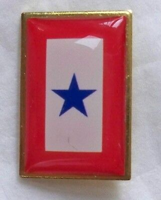Blue Star pin, great for Mom/Dad ,in support of son/daughter in active military