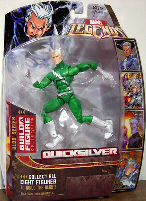 "QUICKSILVER ( 6"" ) GREEN VARIANT ( 2006 ) MARVEL LEGENDS X-MEN ACTION FIGURE #7"