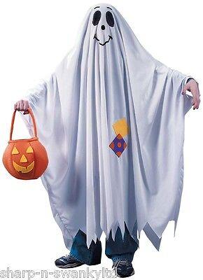 Jungen Mädchen Kinder Freundlich Halloween Gespenst Kostüm Outfit 4-12 - Freundliche Kostüm Kinder