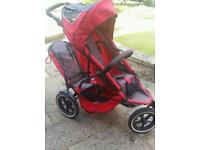 Phil and Ted double pram