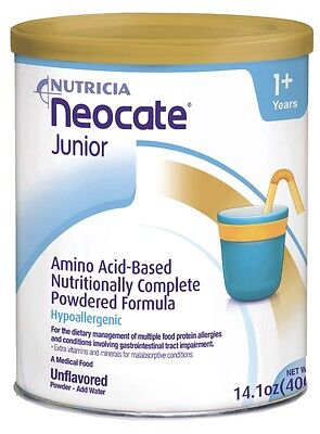 Neocate Junior formula 1 SEALED CASE (4 cans) unflavored Exp. 05/2018!!