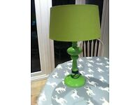 Large modern lime green table lamp