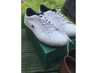 Lacoste white mens trainers