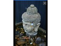 Large heavy Buddha head water feature
